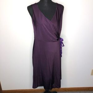 Eliza Parker Purple V-Neck Sleeveless Midi Dress